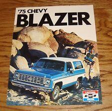 Original 1975 Chevrolet Blazer Sales Brochure 75 Chevy