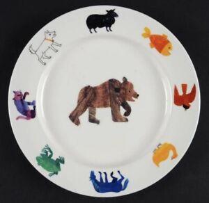 "Eric Carle 'Brown Bear' 7 1/2"" Plate; Illustrations 1967 & 1992; vintage; LUNT"