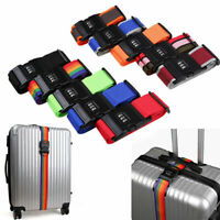 US Password Strap Lock Luggage Suitcase Coded Cross Belt Lock Baggage Backpack