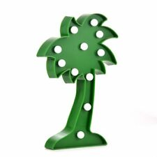 Decorative and Fun Green Plastic Light Up Palm Tree with 11 Warm White Lights