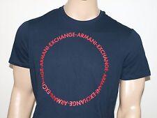 Armani Exchange Auténtico Logo Círculo Camiseta azul marino NUEVO CON ETIQUETA