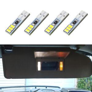 4 x White T5 37 74 LED Visor Vanity Mirror Light Bulbs for 2003-2009 Hummer H2
