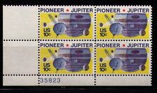 US USA Sc# 1556 MNH FVF PL# BLOCK Space Jupiter Pioneer 10 Spacecraft Moons