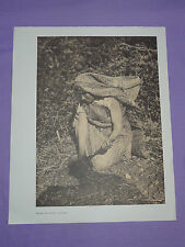 "Edward Curtis Native American Indian Vintage Photo Print ""HESQUIAT ROOT DIGGER"""