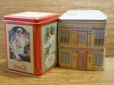 COKE COLA TINS >> SET OF TWO (SQUARE)