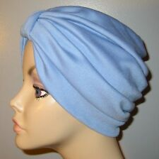 Chemo Hat Med Blue TurbanCancer Hair Loss Turban Alopecia Stretch Knit
