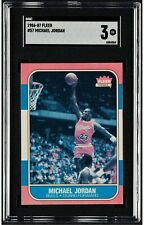 1986 Fleer Basketball #57 Michael Jordan Rookie Card RC Graded ** SGC 3 VG