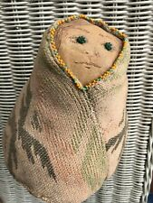 Old Indian Doll Beaded Soft Leather Blanket Hand Sewn 1924 Old West Pnw Tribal
