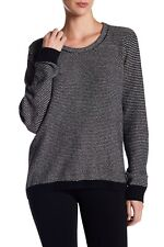 Womens Madewell Black Marled Crew Neck Knit Sweater Size S Small