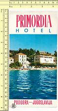 033 Primordia Hotel Podgora Yugoslavia Croatia vintage brochure old prospect