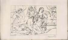 1835 Engraved Artwork Deliah Delivering Samson To The Philistines   ~ Greig / A