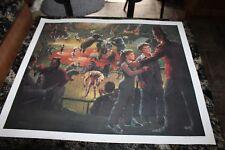 Rare Shriners Shrine Circus Print by William (Bill) Medcalf Signed 22 X25