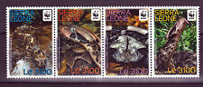 WWF Snakes strip of 4 stamps mnh 2011 Sierra Leone #3079