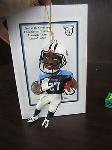 EDDIE GEORGE Tennesee Titans Ornament  NEW in BOX CHRISTMAS