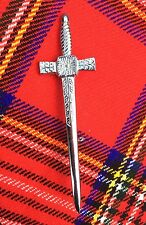"CC Scottish Highland Sword Kilt pin Chrome finish 4""/Kilt pin/kilt Pins/pins"