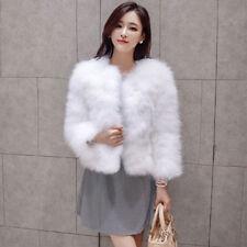Women's BRIDAL Winter Warm Parka Faux Fur Coat PARTY Outwear Jacket Overcoat NEW