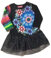 Desigual 18 MOIS Fille: Robe Noire Hiver