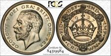 1927 Crown Great Britain UK Silver Coin Certified PCGS PR63 Gold Holder