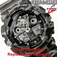 CASIO G-SHOCK MENS WATCH GA-100CM-8A FREE EXPRESS CAMOUFLAGE GREY GA-100CM-8ADR