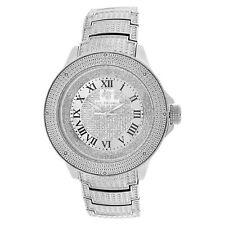 Men's Ice Mania IM3501MI Genuine Diamond Illusion Dial Metal Band Watch 0.08 CT