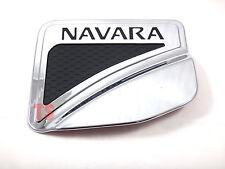 CHROME+BLACK FUEL CAP DOOR COVER FOR NISSAN FRONTIER NAVARA NP300 4DOOR 4WD 2015