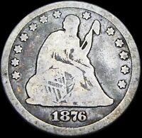 1876-CC Seated Liberty Quarter Dollar Silver  ---- NICE ---- #Z839