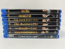 7 James Bond Blu-Ray movie lot - Dr No Thunderball From Russia With Love + more