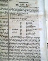 Early WESTERN EXPANSION Creating Cities & Emancipation of SLAVES 1818 Newspaper