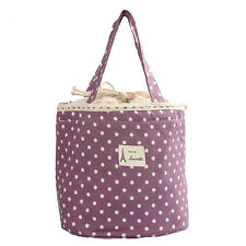 Thermal Insulated Lunch Box Tote Cooler Bag Bento Pouch Lunch Container Purple