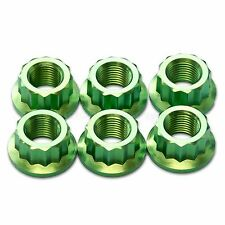 Ducati Panigale 1098 S 1198 S, 1199 S, 1299 S Green Titanium Rear Sprocket Nuts
