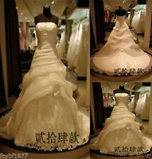 New White/Ivory Wedding Dress Bridal Gown Size:6/8/10/12/14/16/18/20/22