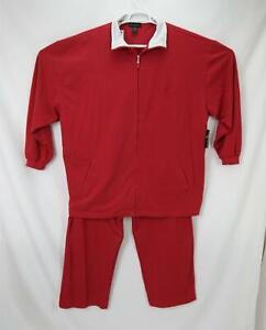 NEW Vintage Sean John Men's Lounge Wear Suit Jogging Tracksuit Red 3XL