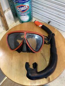 Vintage Nemrod Mask & Snorkel Diving Scuba Ocean Abelone Untested