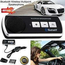 NEW Bluetooth Hands Free CAR Kit Speaker Sun Visor Clip For All Smartphone