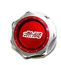 JDM MUGEN EMBLEM BRUSHED RED ENGINE OIL FILLER CAP BADGE FOR HONDA ACURA