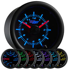 car and truck dash clocks 2 1 16 52mm glowshift black 7 color series analog clock gauge for 12 volts