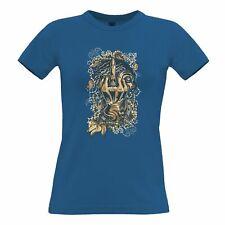 Gothic Sailor Art Womens TShirt Skeleton Swearing Graphic Creepy Biker Rude