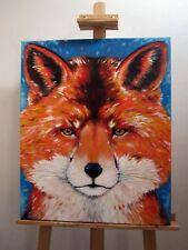 Tableau Renard peinture animaux lion chat déco maison moderne Art original new