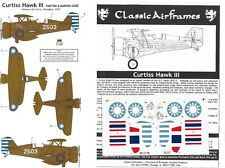 CLASSIC AIRFRAMES DECALC /STIKERS CURTISS HAWK II 1/48