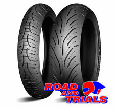 New Michelin Pilot Road 5 Motorcycle Tyres Pair 120/70 ZR 17 & 180/55 ZR 17