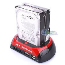"Premium 2.5"" 3.5"" IDE SATA 2 Hard Drive Disk HDD Docking Station Hub Card Reader"