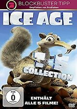 Ice Age 1-5  (Teil 1+2+3+4+5, alle 5 Filme,Komplettbox) 5 DVDs NEU OVP