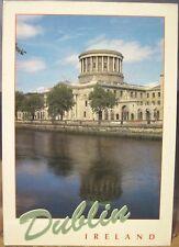Irish Postcard Four Courts River Liffey DUBLIN Ireland Guy John Hinde 2/186 1997