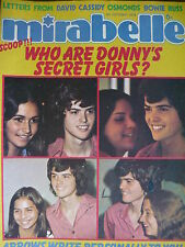MIRABELLE MAGAZINE 5TH OCT 1974 - DONNY OSMOND - SLADE - DAVID BOWIE
