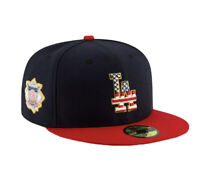New Era 59Fifty Fitted Official MLB Los Angeles Dodgers 4TH OF JULY Hat Sz 7 1/8