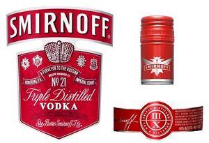 Spirits Drink Bottle Edible Icing Labels for Bottle Cake Decoration