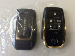 Toyota Verfire Golden Eyes Smart Key Cover genuine 30 series 6 Button Keyless