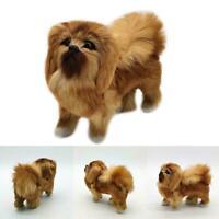 Realistic Simulation Dog Toy Plush Pekingese Toy Doll Kids Stuffed Animal C5R5