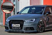 Spoilerschwert Frontspoiler Cuplippe aus ABS Audi S1 8X mit ABE schwarz glänzend