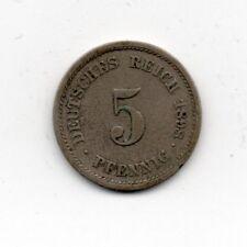 ALLEMAGNE 5 pfennig 1898